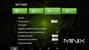 MINIX NEO X8 Settings