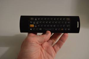 Holding the Mele F10 keyboard