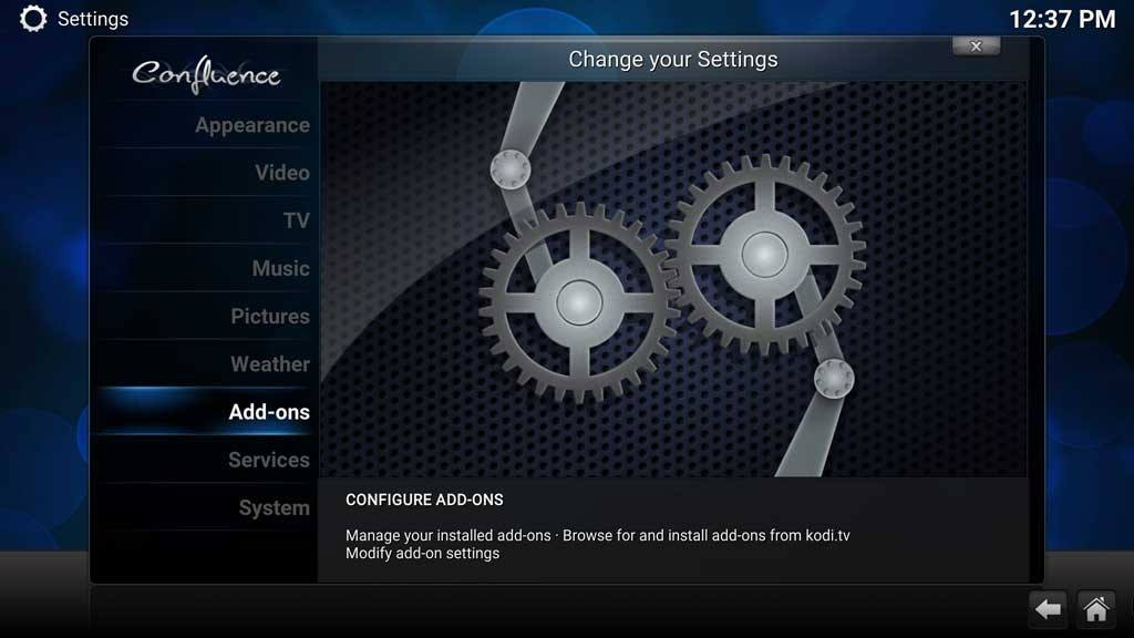 Kodi Add-ons Settings