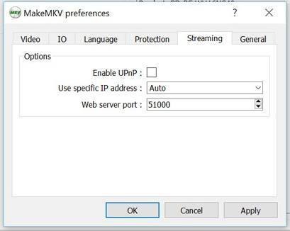 make mkv settings
