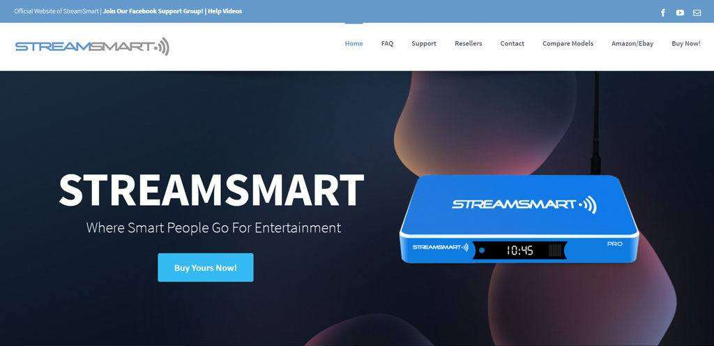 Streamsmart website