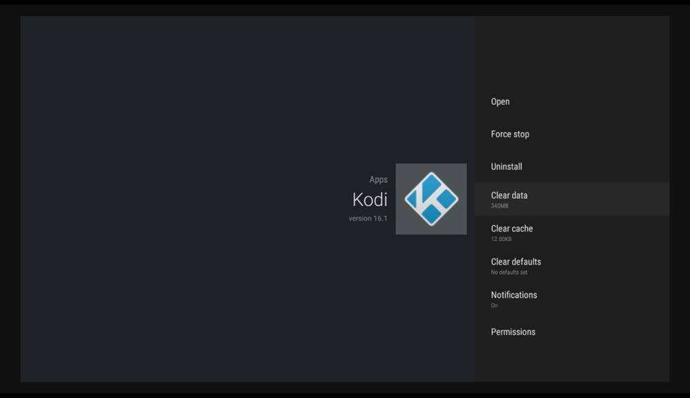 How do I reset Kodi on Android box - Clear Data