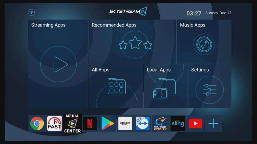 SkyStream Two launcher
