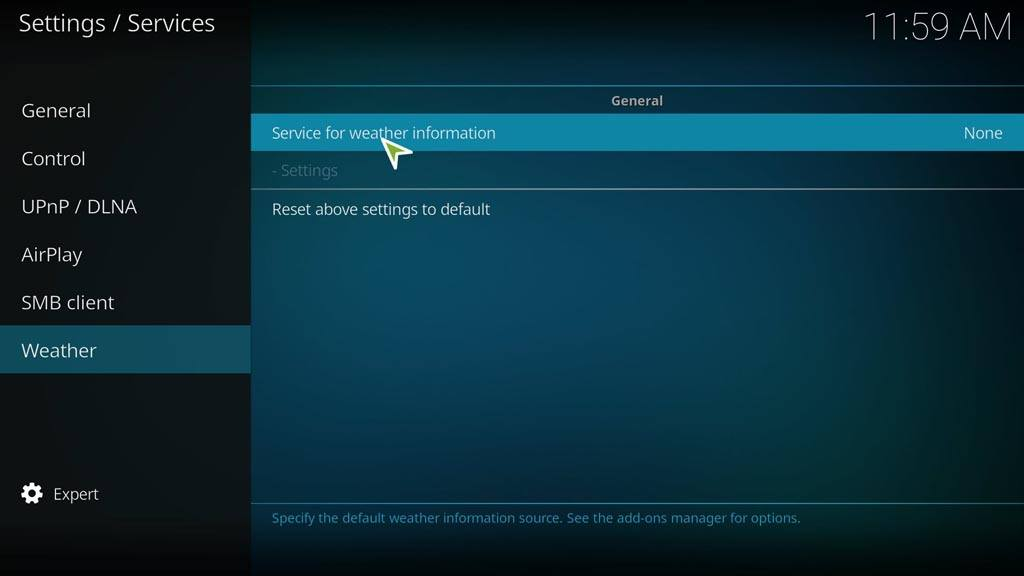 Installing Weather Add-ons