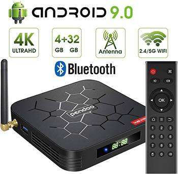 Pendoo Android 9.0 TV Box - Best For Heavy Streaming Loads