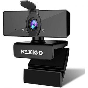 Nexigo 1080P FHD Web Camera With Dual Microphone And Privacy Cover